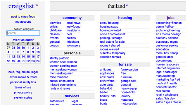 Bangkok Craigslist - 5 Best Alternatives